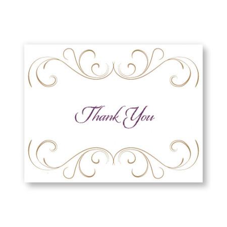 Striking Flourish Letterpress Thank You Cards