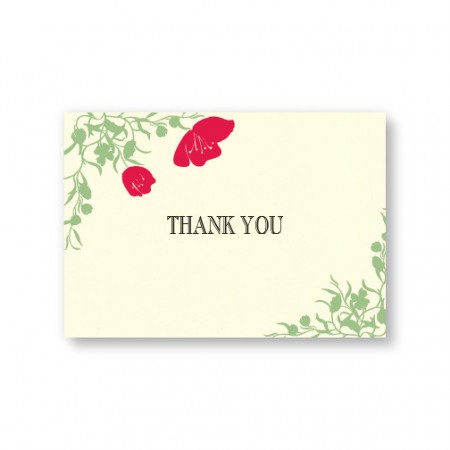Romantic Petals Thank You Cards