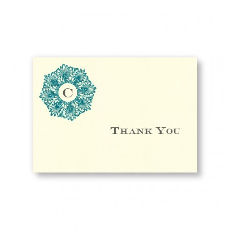 Initial Perfection Thank You Cards