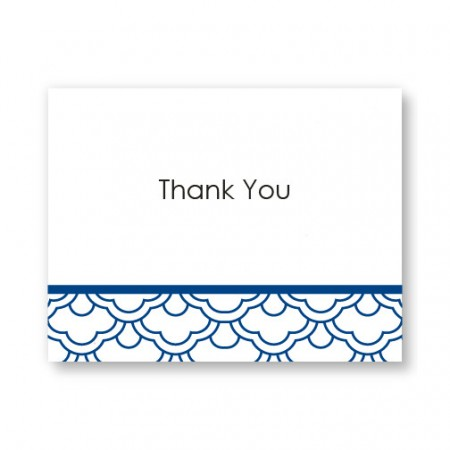 Ornamental Expression Letterpress Thank You Cards