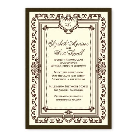 Aubrey Monogram Wedding Invitations