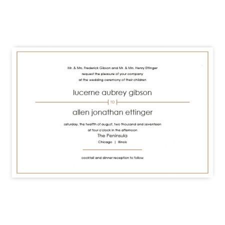 Audrey Classic Letterpress Wedding Invitations
