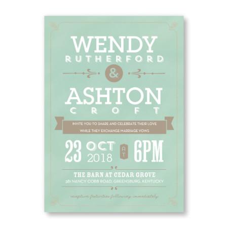 Aurora Chalkboard Wedding Invitations