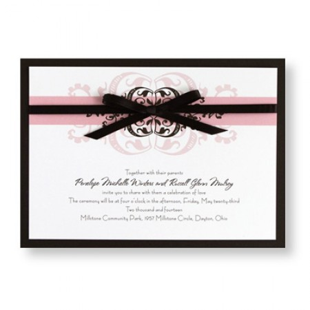 Modern Romance Wedding Invitations SAMPLE