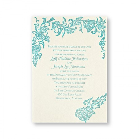 Intricate Florals Wedding Invitations-SAMPLE