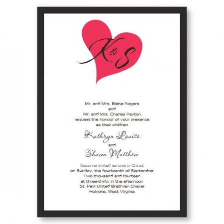Forever In My Heart Wedding Invitations SAMPLE