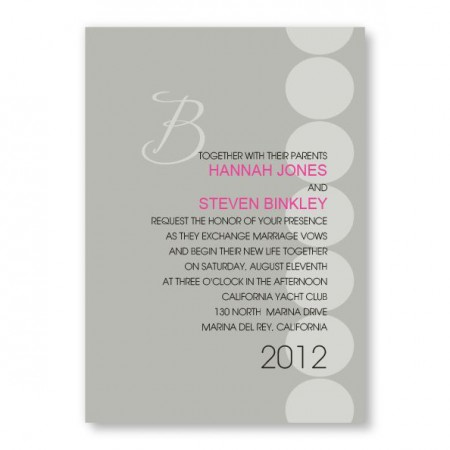 Dots with Initial Wedding Invitations SAMPLE