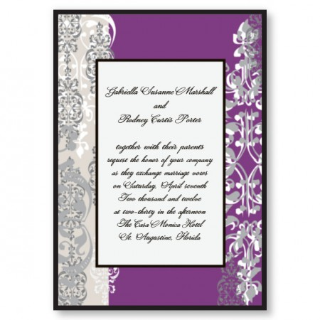 Cherish Wedding Invitations SAMPLE