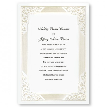Bridal Elegance Pearl Wedding Invitations