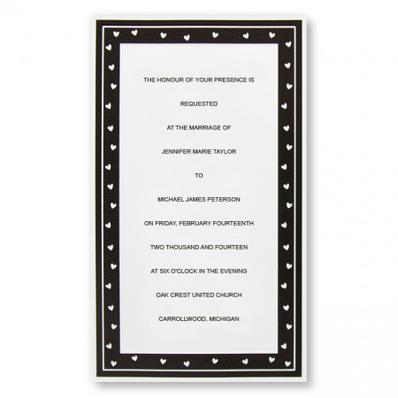 Delightful Hearts Wedding Invitations SAMPLE