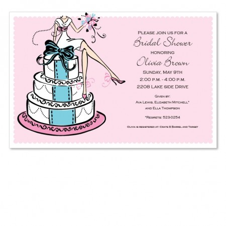 Cake Girl Invitations SAMPLE