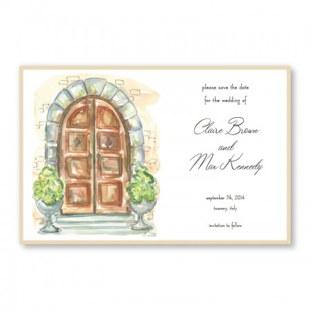 Tuscan Door Save The Date SAMPLE