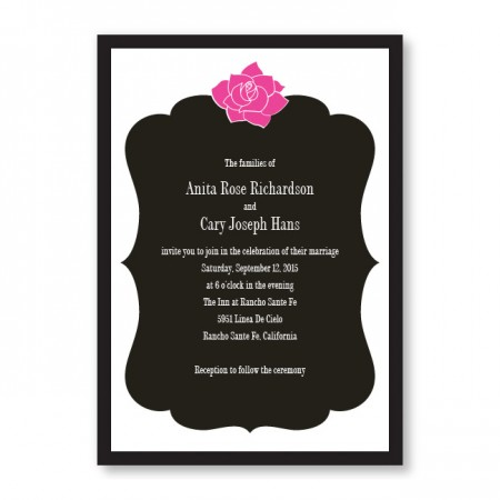 Blooming Inspiration Wedding Invitations SAMPLE