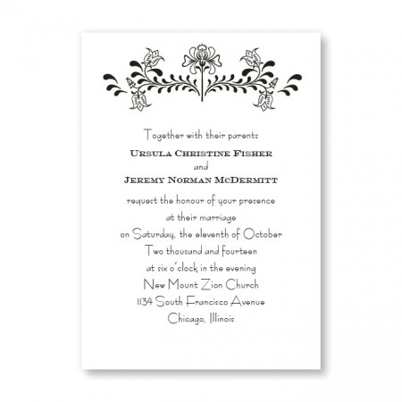 Delicate Touch Wedding Invitations SAMPLE