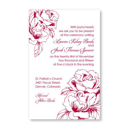Freshly Bloomed Letterpress Wedding Invitations
