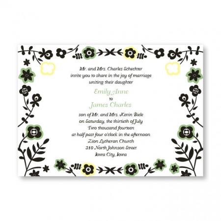Fresh Beginnings Wedding Invitations SAMPLE