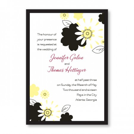 Flowers for the Bride Wedding Invitations SAMPLE