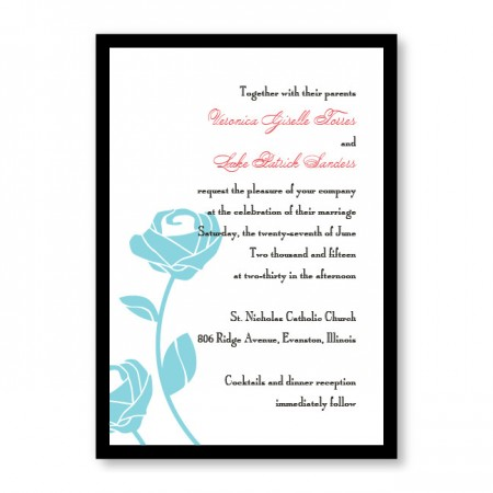 Roses are Forever Wedding Invitations SAMPLE
