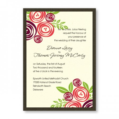 Touched with Roses Wedding Invitations SAMPLE