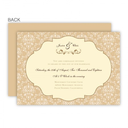 Lindsey Wedding Invitations SAMPLE