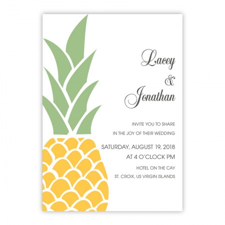 Juliette Pineapple Modern Wedding Invitations