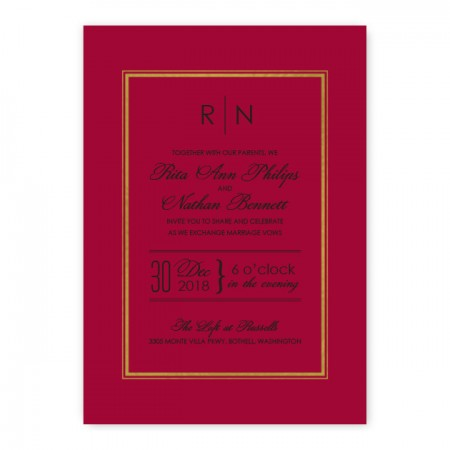 Kennedy Wedding Invitations - Real Foil Invitation!