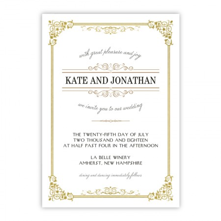 Skyla Wedding Invitations - Real Foil Invitation!