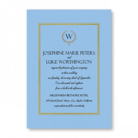 Elise Wedding Invitations SAMPLE