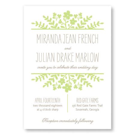 Spring Flora Wedding Invitations