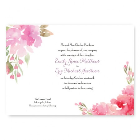 Floral Affair Wedding Invitations