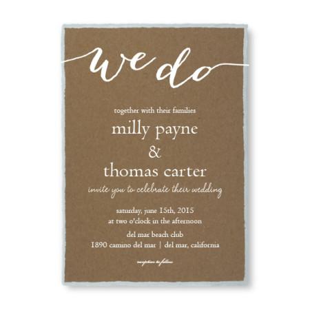 Rustic Charm Foil Wedding Invitations