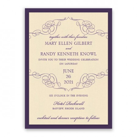 Reese 2-Layer Thermography Wedding Invitations