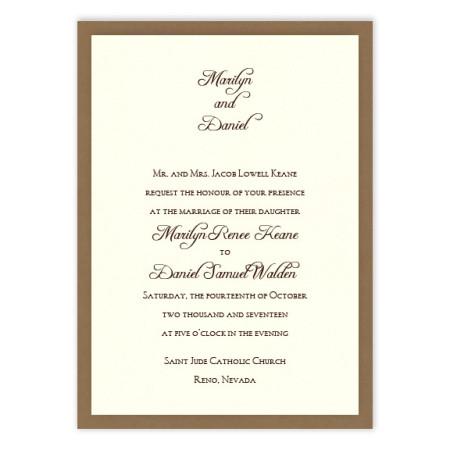 Abbey 2-Layer Wedding Invitations