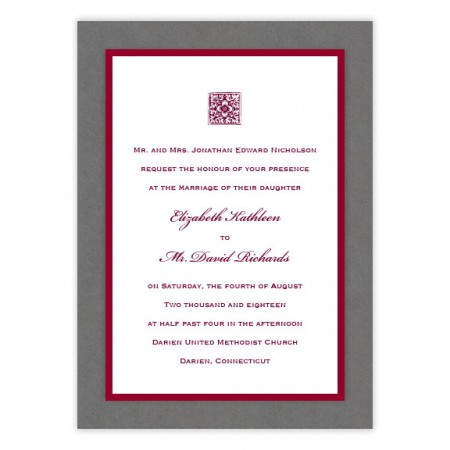 Reagan 3-Layer Wedding Invitations