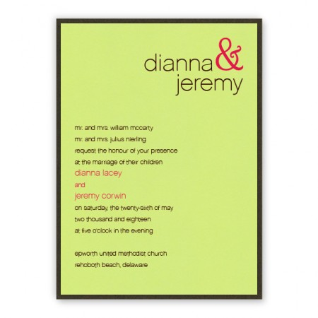 Kelsey 2-Layer Wedding Invitations SAMPLE