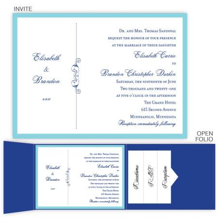 Phoebe Folio Pocket Wedding Invitations