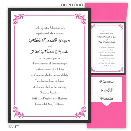 Kirsten Folio Pocket Wedding Invitations