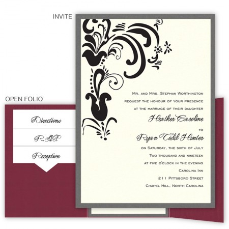 Brandi Folio Pocket Wedding Invitations