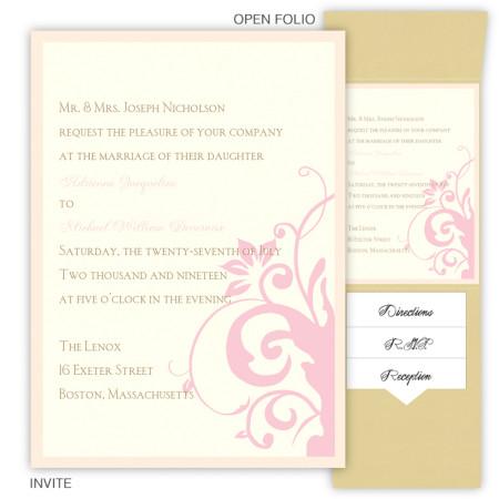 Cassandra Folio Pocket Wedding Invitations