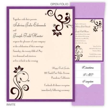 Millie Folio Pocket Wedding Invitations
