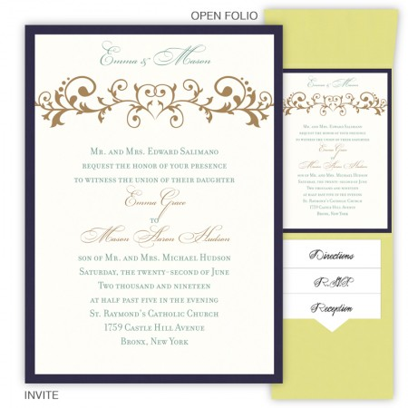 Emma Folio Pocket Wedding Invitations