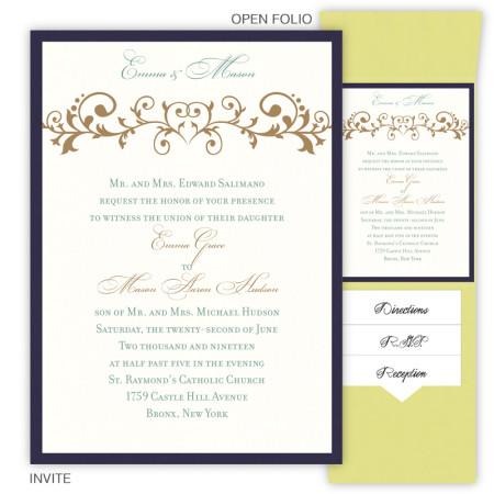 Emma Folio Pocket Wedding Invitations