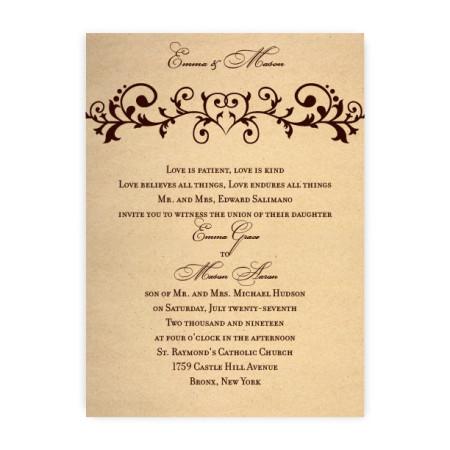 Emma Heart Wedding Invitations