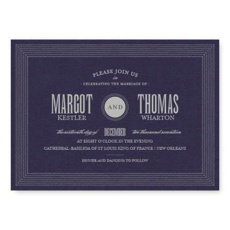 Broadway Marquee Wedding Invitations