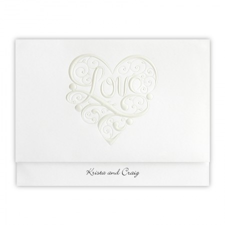 Heart of Love Wedding Invitations
