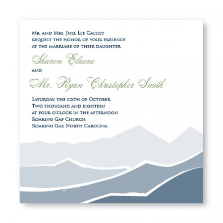 Mountain Square Wedding Invitations SAMPLE