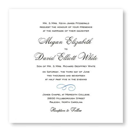 Classic Square Wedding Invitations