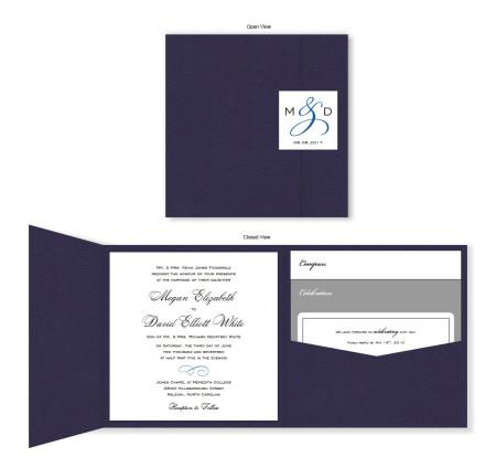 Classic Square Folio Pocket Wedding Invitations