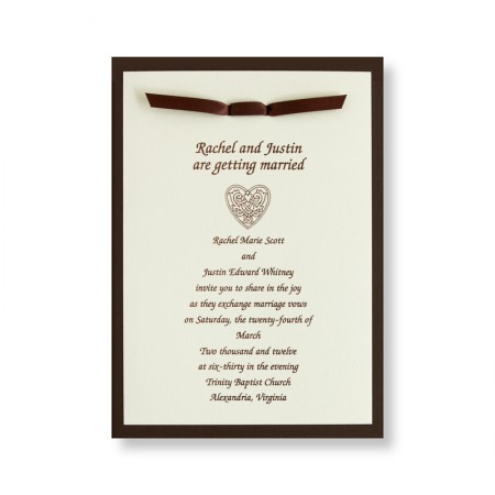 Amore Wedding Invitations SAMPLE