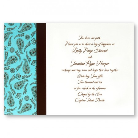 Perfect Paisley Wedding Invitations